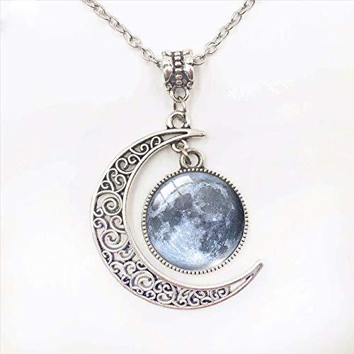 Joyería de moda Color Collar de Luna Llena Cúpula de cristal hecha a mano Collar de luna Eclipse Lunar Colgante Joyería Regalos 8