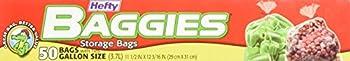Hefty Baggies Food Storage Bags 1 Gallon - 50 count