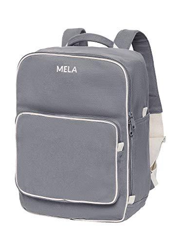 MELAWEAR MELA II Rucksack - Nachhaltig mit Fairtrade Cotton, GOTS und Grüner Knopf Zertifizierung, Farben MELA II:grau