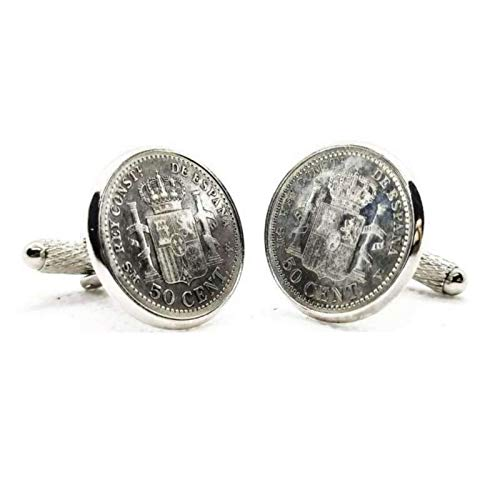 Gemelos para camisa: Genumis Plus Ultra - Moneda 50 centimos peseta 18