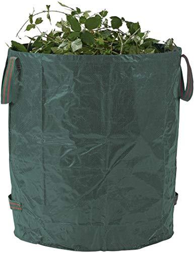 Florabest Gartenabfallsack ca 272 Liter leicht zu befüllen selbststehen durch Spannring aus besonders reißfestem beidseitig laminiertem ,wetterfestem Material
