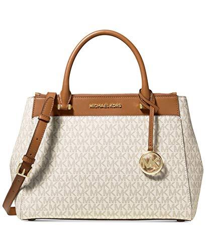 MICHAEL Michael Kors Gibson Signature Satchel Bag, Vanilla