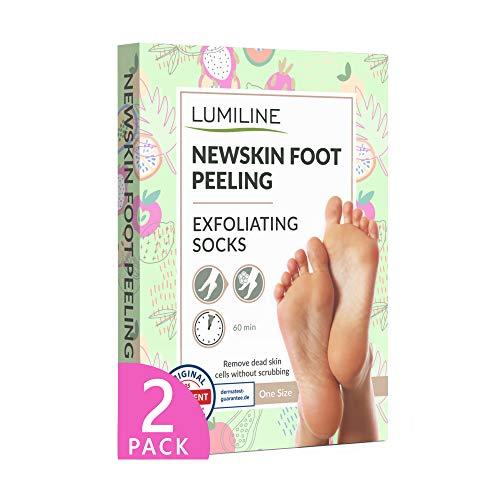 Exfoliante pies quita callos pies calcetines exfoliantes de pies mascarilla pies peeling babyfoot baby foot elimina callos, 2 pares (hasta la talla 40)