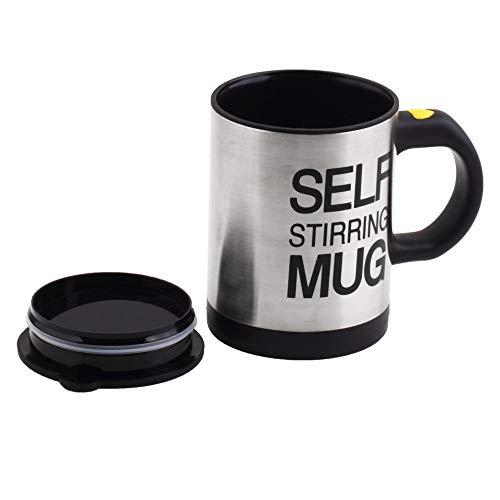 Zeerkeer Self Stirring Coffee Mug Cup Edelstahl Automatische Selbstmischung & Spinnen Home Office Travel Mixer Cup Beste süße Weihnachtsgeburtstag Geschenkidee(schwarz)