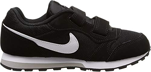 Nike Jungen Md Runner 2 (PSV) Low-Top, Schwarz (Black/White-Wolf Grey), 33 EU
