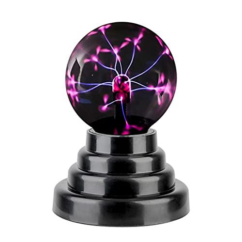ZHSHML TYYJY Bola de Plasma mágica, Novedad, lámpara USB, lámpara de Esfera táctil de Vidrio, luz de Plasma, novedades, decoración, Novedad, artículo, Bombilla de Producto Nuevo