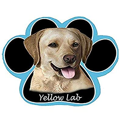 Yellow Labrador Dog Paw Non-Slip Mousepad by E&S Imports, Inc