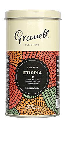 Granell - Orígenes - Etiopía   Cafe Molido 100% Café Arabica - Café Rico en Acidez y Cuerpo - 200 Gramos