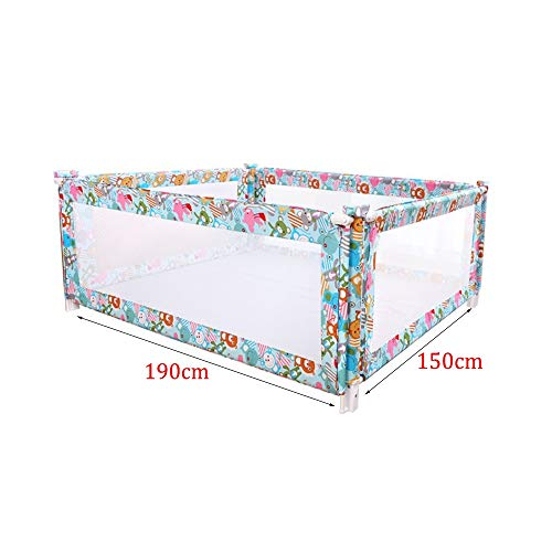 New AGFXN Bed Rails Toddlers with Lockable Buckle Vertical Lift Protective Rod Double Bed, 4 Piece S...