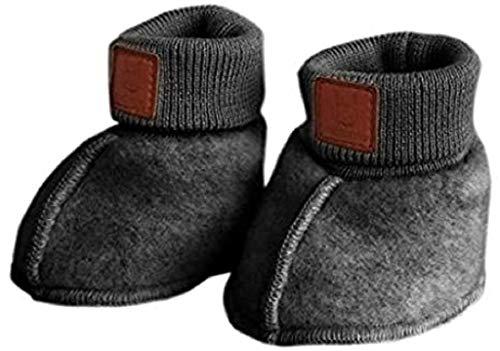 maximo Gots Baby Schuh Wollfleece Größe: 3M Farbe: mittelgrau