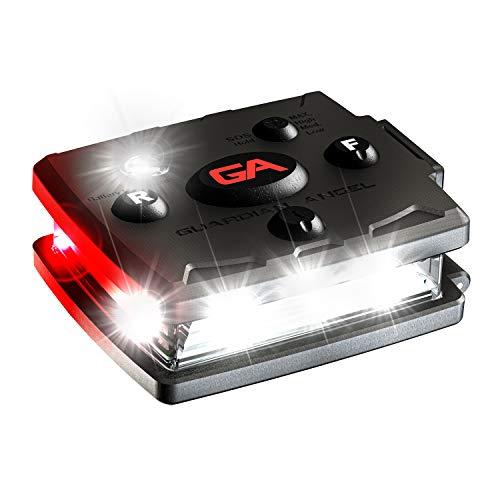 Guardian Angel Elite Micro - Barra de luz de seguridad personal | Linterna magnética con manos libres | ligera con batería recargable (blanco/rojo)