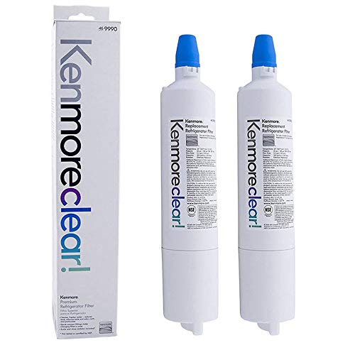 9990 Refrigerator Water Filter Replacement Compatible with Kenmore 9990, LG LT600P 5231JA2006B, Kenmoreclear 46-9990, 2-Pack