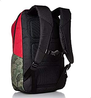 حقيبة ظهر لاب توب روسو كورسا تتسع للاب توب مقاس 15 انش من ان كاس - احمر/ اسود/ متريك كامو