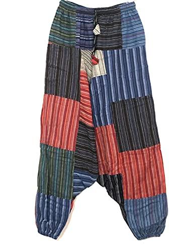 Pantalones Bombacho Hippie Multicolor (L/XL)