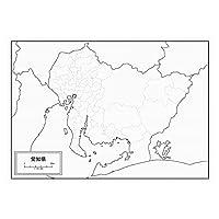 愛知県の白地図 A1サイズ 2枚セット