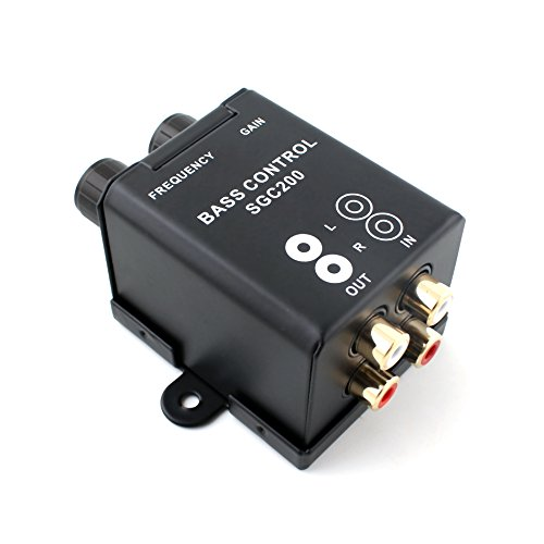 Car Home Subwoofer Equalizer Crossover Amplifier RCA Adjust Line Level Volume Remote Amplifier Level Controller