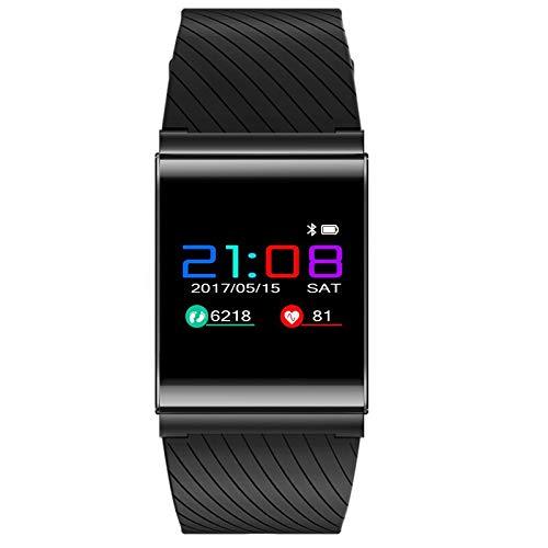 ZCFDD Braccialetto Intelligente LCD Smart Braccialetto X9 PRO Smartband Wristband Blood Pressure Ossigeno Frequenza Cardiaca Tracker Fitness Chiamata SMS Alert per Android iOSBlack