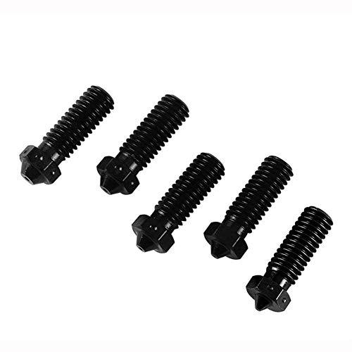 CENPEN 3D-Drucker-Zubehör, 5 Stück gehärteter Stahl V6 Düsen 1.75mm Jede Hotend Düse for 3D-Drucker Drucker