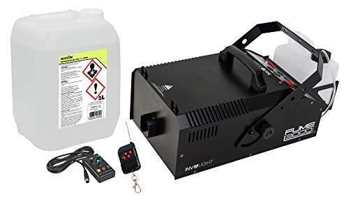 Involight Fume 3000 DMX Nebelmaschinen D-800 Set (das ideale Set für Profis: Nebelmaschine mit DMX, 1132 m3/min Ausstoßweite, Timer- & Funkfernbedienung, inkl. 5L Nebelfluid)