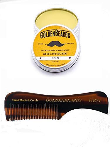 Cera da Baffi (Moustache Wax)15ml + GB71 - Edizione Limitata - ottenere il migliore KIT cera baffi con un pennello di Kent al miglior prezzo