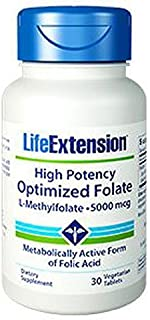 High Potency Optimized Folate 5000 mcg, 30 Vegetarian Tablets-Pack-2