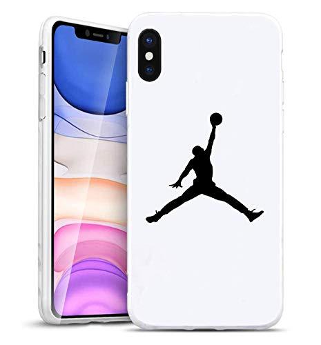 Toxdi Air Man Logo iPhone XR Funda, Carcasa Silicona Protector Anti-Choque Ultra-Delgado Anti-arañazos Case Caso para Teléfono iPhone XR (Blanco)