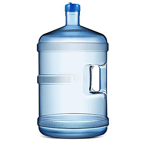 garrafas de plastico Agua potable embotellada potable purificada bañera de agua mineral hogar pequeño cubo de plástico con un tanque de almacenamiento portátil engrosamiento tapa ( Size : 11.3L )