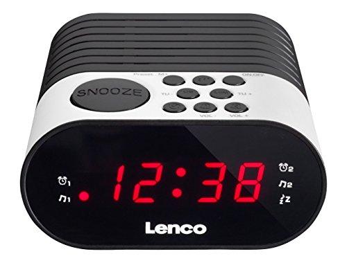 Lenco Radiowecker CR-07 mit LED-Display, 2 Weckzeiten, Dual Alarm, Sleeptimer, Schlummerfunktion, in 3 Farben