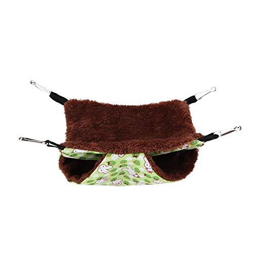 Kleine Tiere-Hängematte, weiche warme Doppelschicht-Haustier-hängende Bett-Haustier-Decke für Papagei-Meerschweinchen Chinchilla-Kätzchen-Katzen-Frettchen-Mäusekaninchen-Eichhörnchen(35 * 35cm)