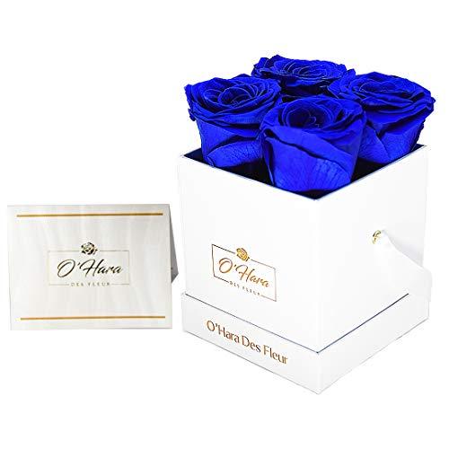 O'Hara Des Fleur - Rosa preservada, Flores Reales | Flores Hechas a Mano en una Caja | Fragancia Natural, Color y Estilo hasta 1 año, cumpleaños, Aniversario