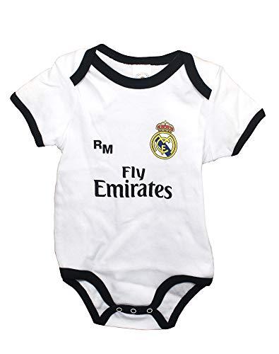 Real Madrid FC Body Niños - Producto Oficial Primera equipación 2018/2019 (3...