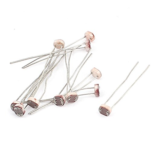 Aexit 10pcs GL5537 Fixed Resistors 18K-50K Ohm 150V LDR Single Resistors Light-Dependent Photoresistors