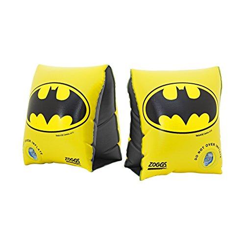 Zoggs Brassard Enfant DC Super Heros, Batman, Noir/Jaune, 2-6 ans