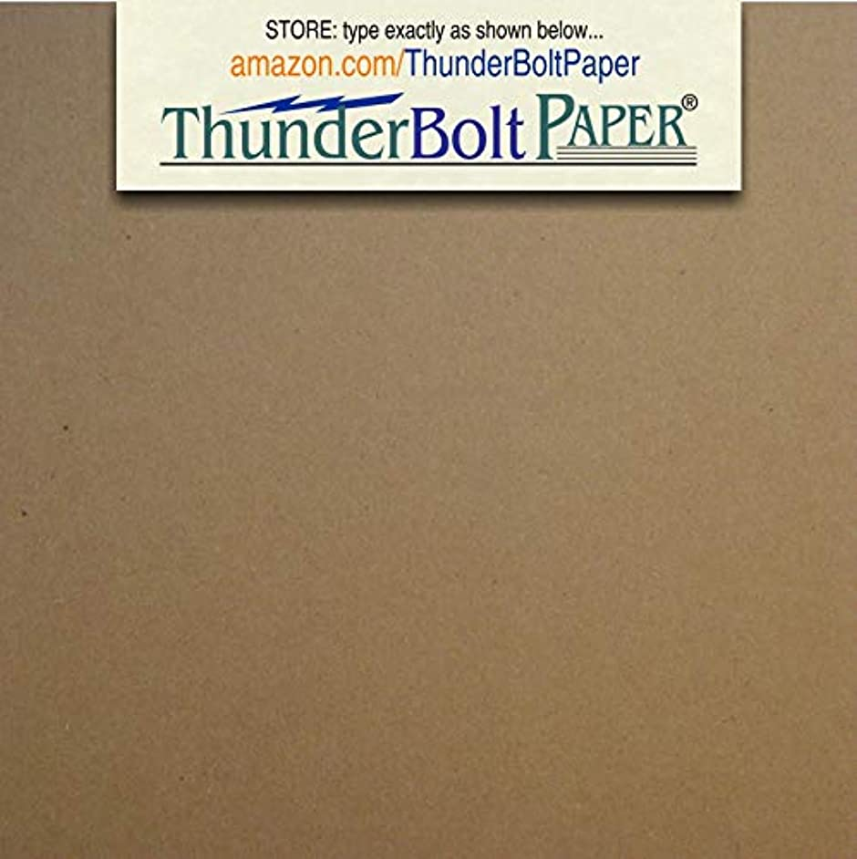 150 Sheets Chipboard 20pt (point) 4 X 4 Inches Light Weight Square Size .020 Caliper Thick Cardboard Craft|Ship Brown Kraft Paper Board