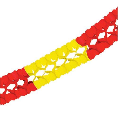 PARTY DISCOUNT ® Girlande Spanien rot-gelb, 400 cm