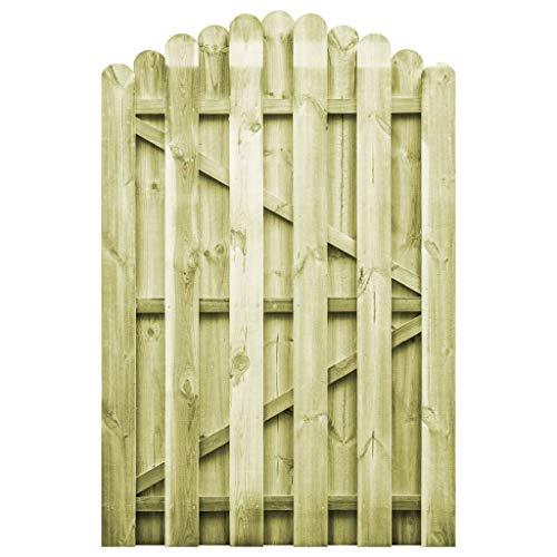 Festnight Cancello per Recinzione da Giardino in Legno di Pino ad Arco,Cancello per Steccato in Legno di Pino Impregnato FSC
