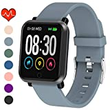 EpochAir Fitness Tracker, Waterproof Activity Tracker, Smart Watch with Heart Rate Monitor, Sleep Monitor, Pedometer, Calorie Counter Sports Fitness Watches for Men Women (Gray)
