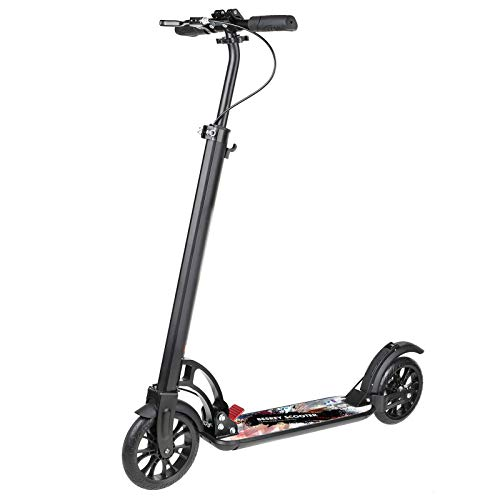 besrey Monopattino Adulti e Bambini Monopattino Ruote Grandi Big Wheel Kick Scooter con Doppia Sospensione, Pieghevole e Altezza Regolabile Urban Scooter per Adulti e Adolescenti