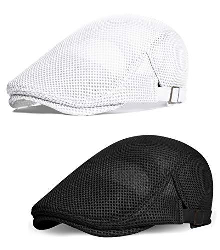 Gorra de malla plana transpirable Babeyond para hombre, estilo boina de verano -  -  Talla única