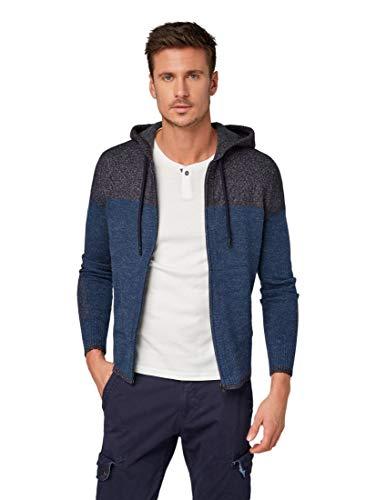 TOM TAILOR für Männer Pullover & Strickjacken Strickjacke mit Color-Blocking, Größe:XL
