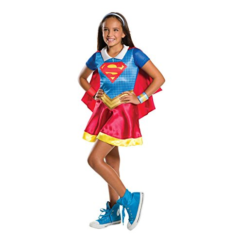 Warner-I- 620742 M-Disfraz para niña, diseño de Super héros-Super-girl talla M (5-7 anos)