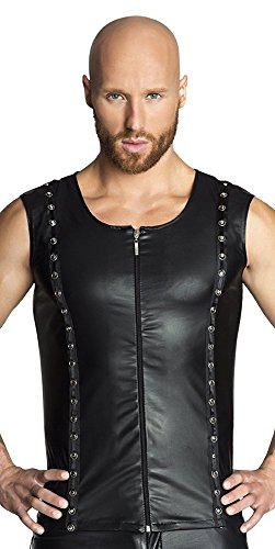 Noir Handmade Clubwear Herren-Weste aus Wetlook Partykleidung Größe 36 - S