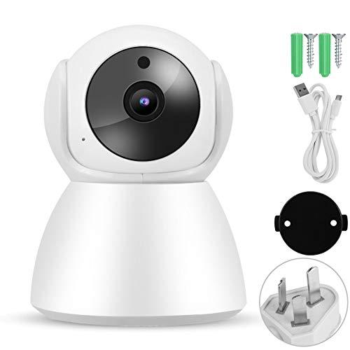 Socobeta Cámara IP WiFi 1080P, conveniente WiFi Babycam intercomunicador cámara de vigilancia 110-240V HD intercomunicador de voz 90° vertical para interior (predeterminado)