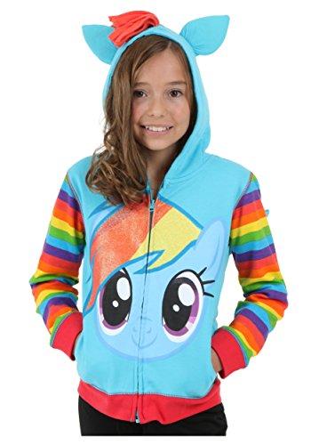 My Little Pony Toddler Girls Zip-up Hoodie, Rainbow Dash, 4T