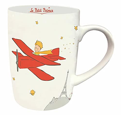 KIUB Taza de desayuno de Le Petit Prince de París con su Avión, tamaño 10,5 cm y 370 ml