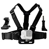 LONDON Straps,Chest Mount, Compatible with Gopro Hero 6, Hero 5, Black, Session, Hero 4, Session, Black, Silver, Hero   LCD, 3 , 3, 2, 1, Chest Strap   J-Hook, Thumbscrew & Storage Bag