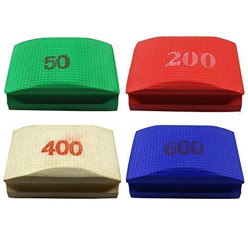 De originele EDW basis/onderhoudsset | handschuurpads/schuursponzen | korrelgroottes 50, 200, 400, 600 | slijpen, polijsten, ontbramen | tegels, fijnsteen, natuursteen, graniet, glas | reiniging