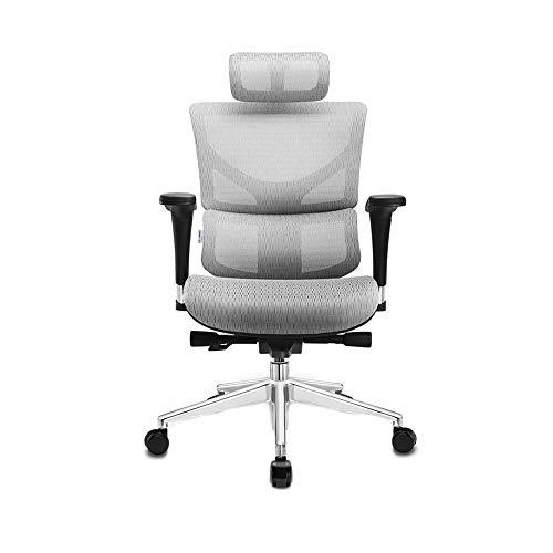 Sillas de escritorio Silla del acoplamiento de computadoras, sillas de juego, Ejecutivo Silla giratoria de oficina silla ergonómica-3D - Silla de escritorio del balanceo con 4D Apoyabrazos ajustable,