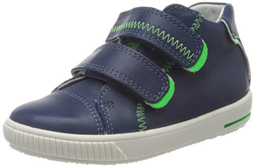 Superfit Baby Jungen Moppy Sneaker, (Blau/Grün 80), 23 EU