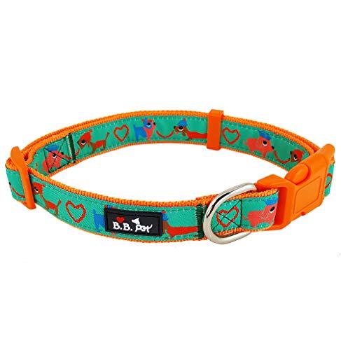 Bestbuddy BBP031 Hundehalsband, modisches Design, strapazierfähiges Nylonband, modisch, bequem, verstellbar, mit Schnalle, 15